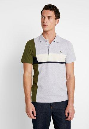 Polo shirt - argent chine/marine geode