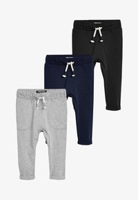 Next - 3 PACK LIGHTWEIGHT JOGGERS - Tracksuit bottoms - black - 0