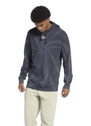 CLASSIC TIE DYE SEASONAL CASUAL HOODIE - Sweatshirt - black