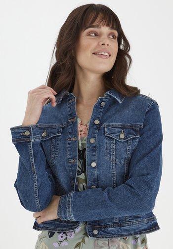 Denim jacket - glossy blue denim