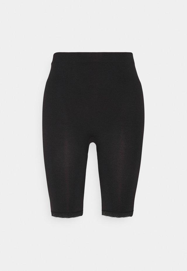 SEAMLESS LACE CYCLING SHORTS - Shorts - black