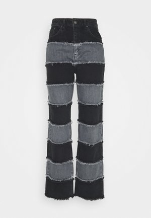EXPOSED SEAM PANELLED STRIPE - Jean boyfriend - grey