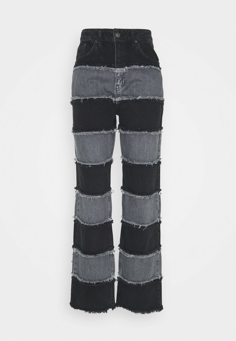 The Ragged Priest - EXPOSED SEAM PANELLED STRIPE - Relaxed fit jeans - grey