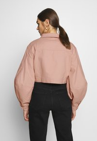 Missguided - BALLOON SLEEVE SHACKET - Denim jacket - blush - 2