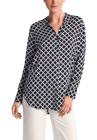 comma casual identity - Button-down blouse - dark blue grid - 3