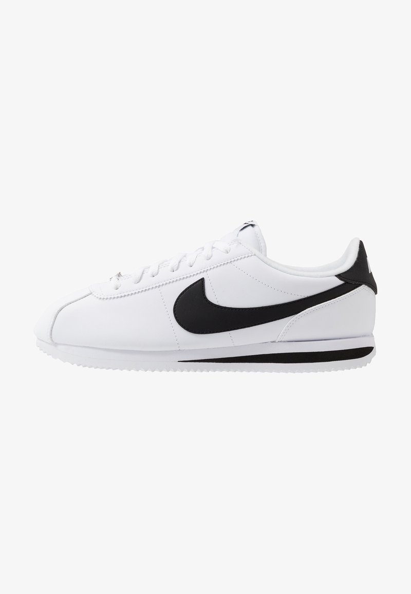 Nike Sportswear - CORTEZ BASIC - Matalavartiset tennarit - white/black/metallic silver