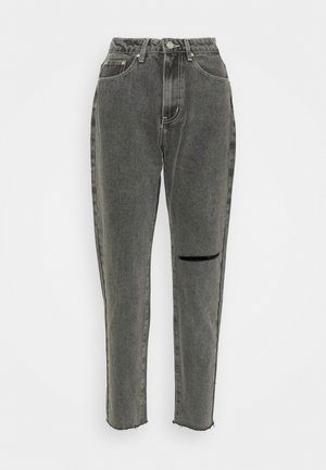 WASHED SINGLE THIGH RIOT - Jeans Tapered Fit - black
