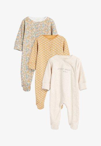 3 PACK - Sleep suit - ochre