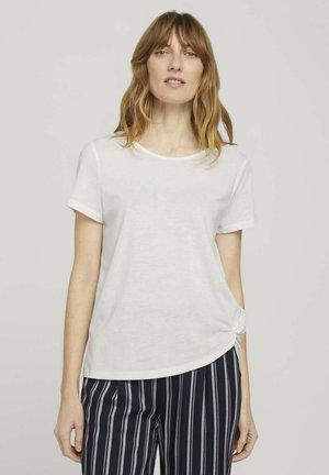 T-shirt med print - whisper white