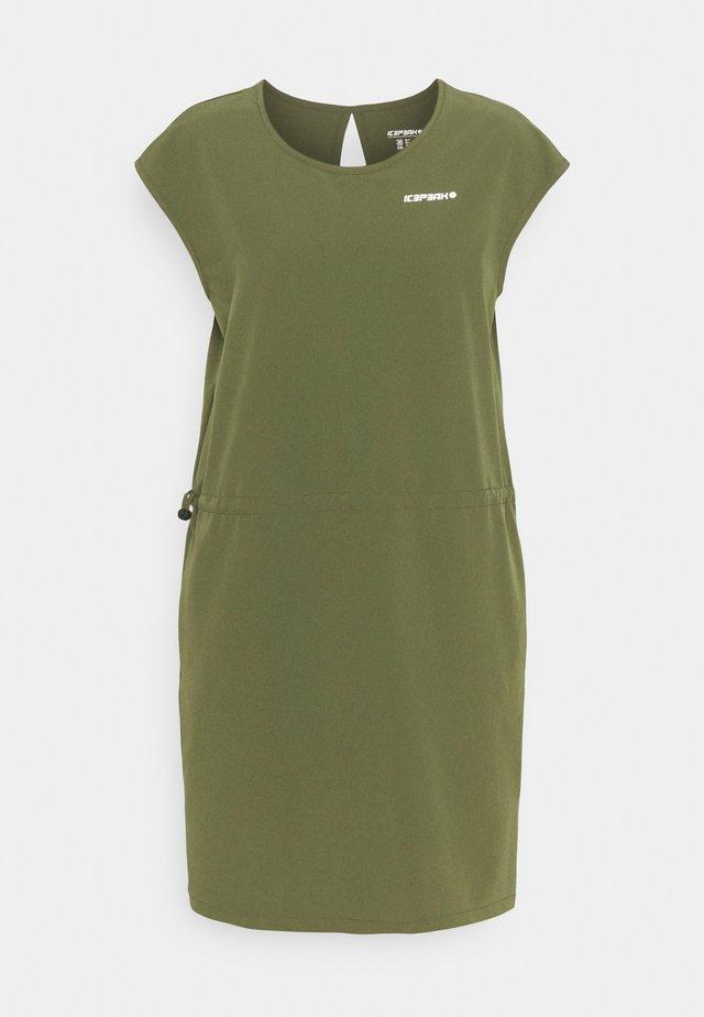 BOTHEL - Korte jurk - dark olive