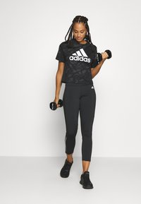 adidas Performance - Print T-shirt - black/white - 1