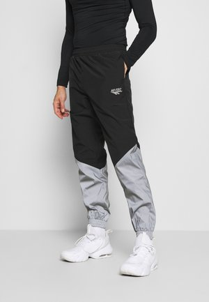 FREDERICK COLOURBLOCK REFLECTIVE TRACK PANTS - Tracksuit bottoms - black/silver