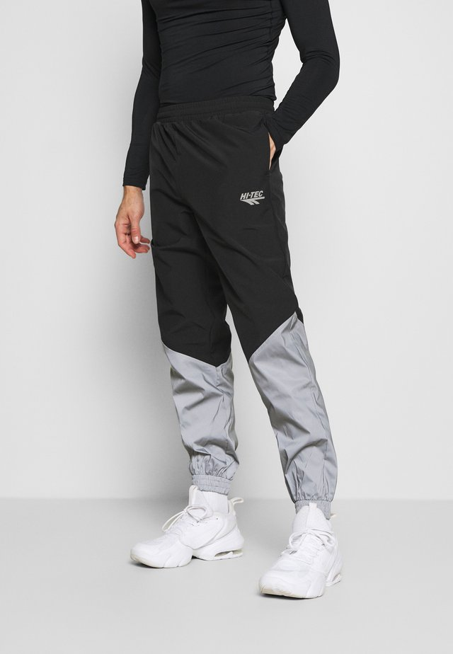 FREDERICK COLOURBLOCK REFLECTIVE TRACK PANTS - Pantalon de survêtement - black/silver