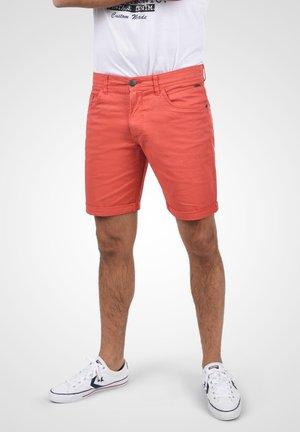 Denim shorts - cranberry red