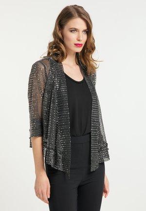 Summer jacket - schwarz silber