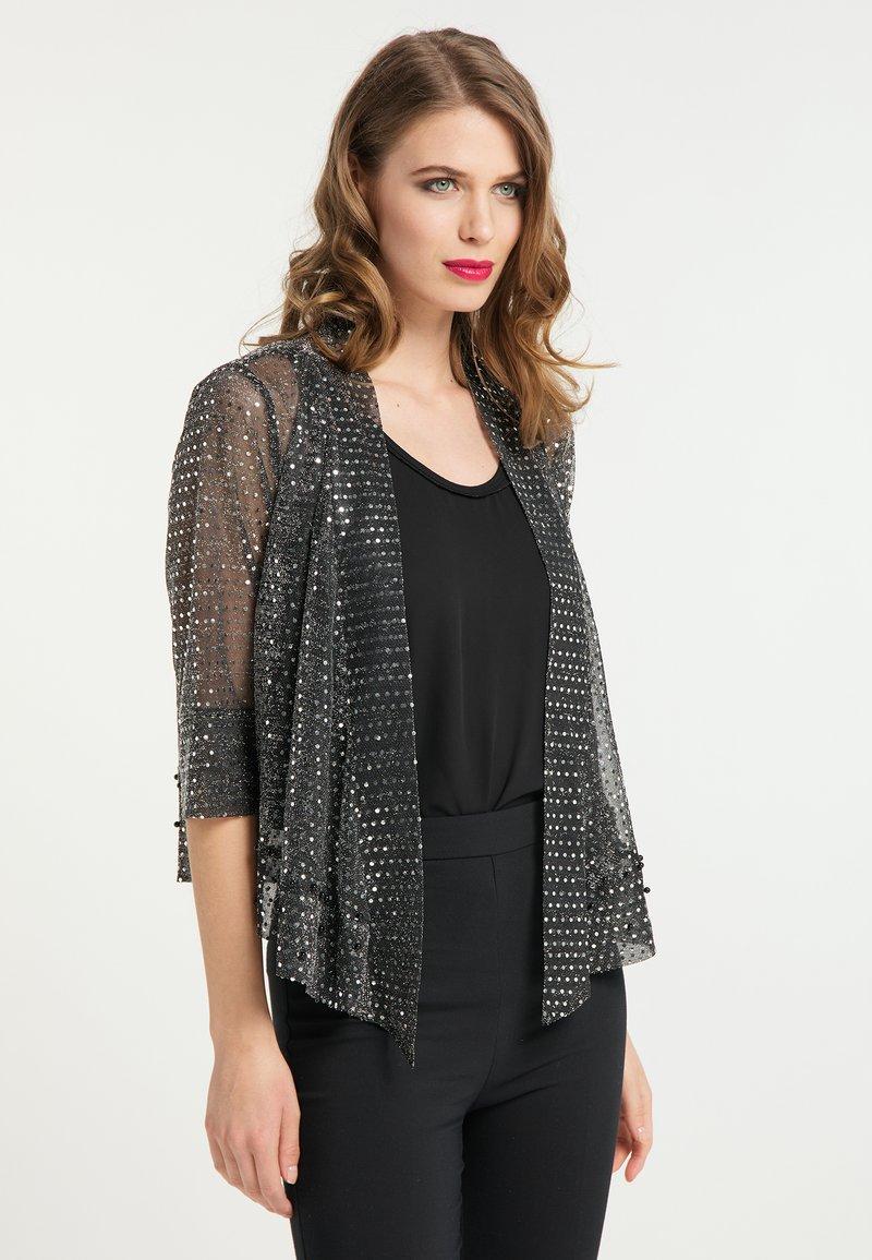 faina - Summer jacket - schwarz silber
