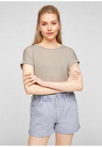 Q/S designed by - Basic T-shirt - beige - 0