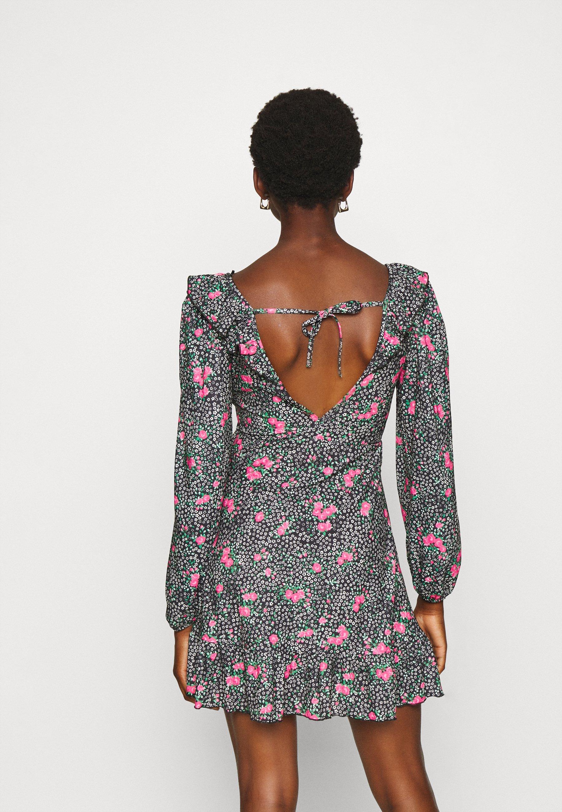 Topshop DOUBLE TEA DRESS Freizeitkleid multi/mehrfarbig