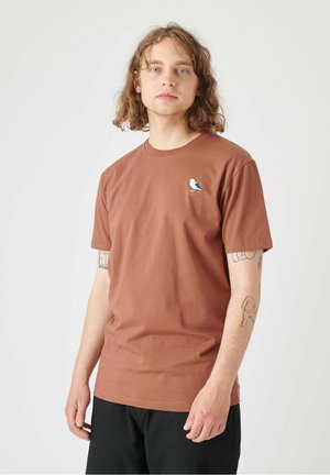 EMBRO GULL - Print T-shirt - friar brown