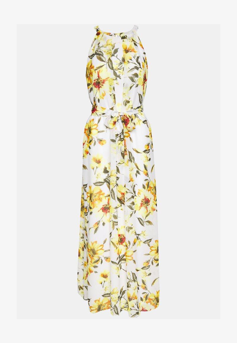 Wallis - GLORAL PLEATED DRESS - Maxi dress - ivory