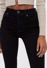 Bershka - MIT HOHEM BUND  - Jeans Skinny Fit - black - 3