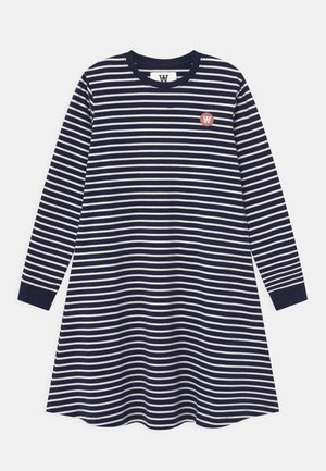 AYA  - Jersey dress - navy/off-white