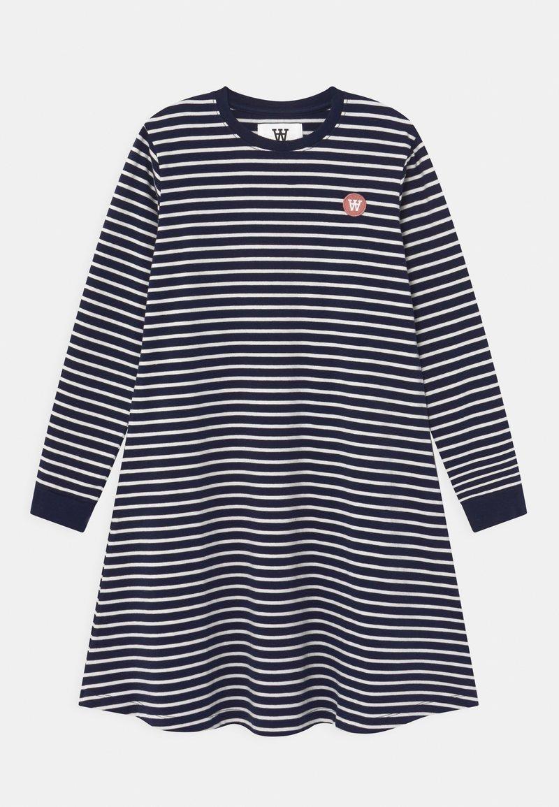 Wood Wood - AYA  - Žerzejové šaty - navy/off-white