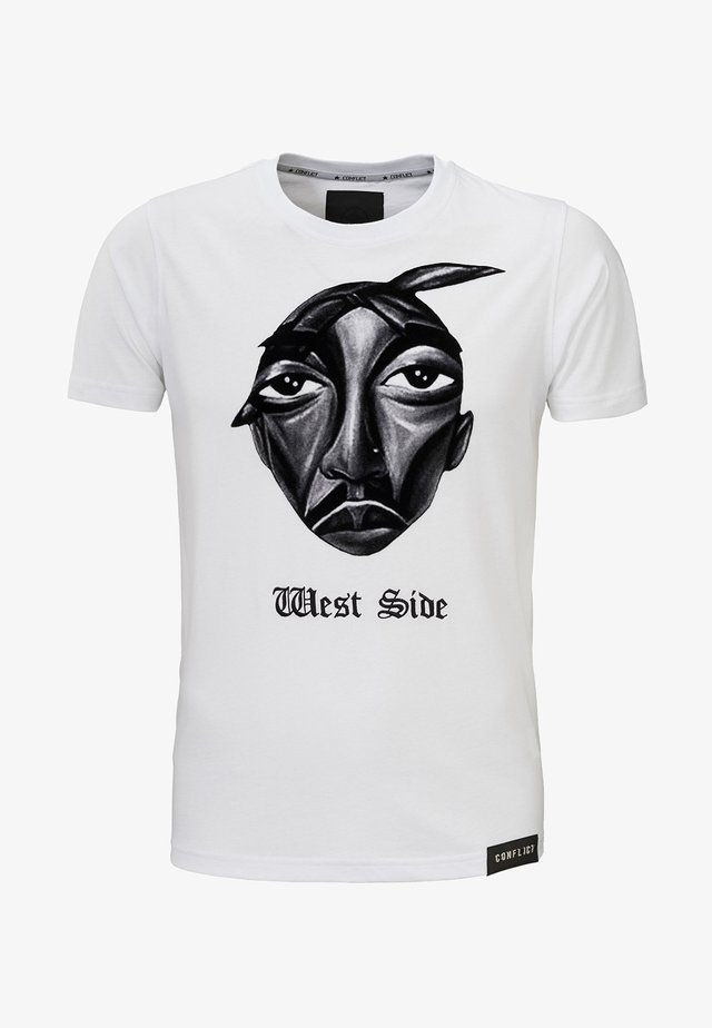 WEST SIDE - T-shirt print - white