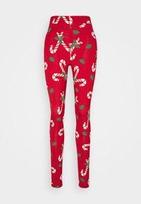 Monki - ED - Leggings - Trousers - red - 0