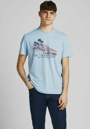 CALIFORNIA-PRINT - T-shirt con stampa - dusk blue