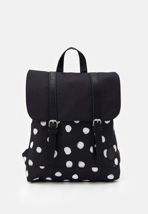 CITY BACKPACK MINI FRONT STRAPS - Rucksack - black/white