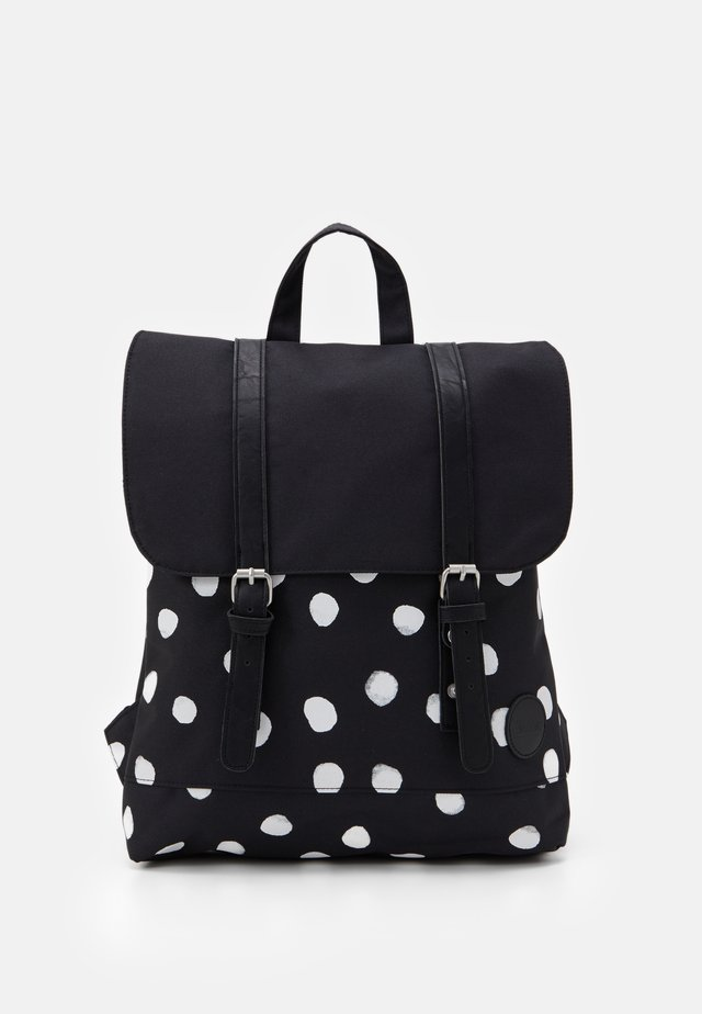 CITY BACKPACK MINI FRONT STRAPS - Sac à dos - black/white