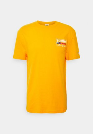 SCRIPT BOX BACK LOGO TEE UNISEX - T-shirt con stampa - florida orange