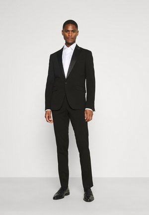 STRETCH TUXEDO SUIT - Puku - black