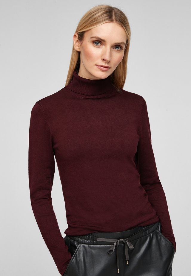 MIT TURTLENECK - Jumper - bordeaux