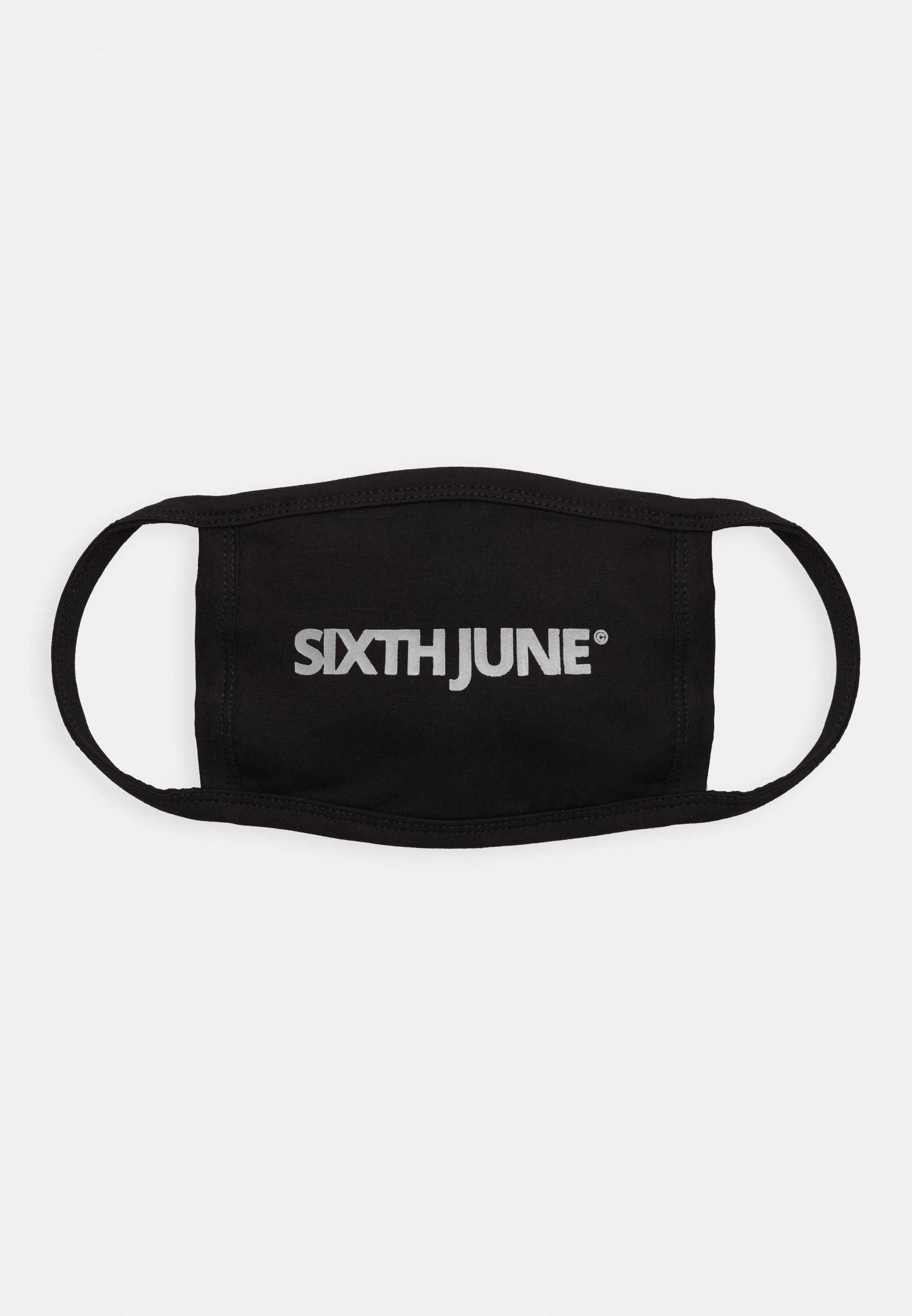 Sixth June REFLECTIVE BRANDED FACE MASK - Munnbind i tøy - black/svart FZKXk3GD6RGTth6