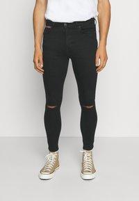 11 DEGREES - SLASHED KNEE  - Jeans Skinny Fit - black - 0