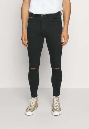 SLASHED KNEE  - Jeans Skinny Fit - black