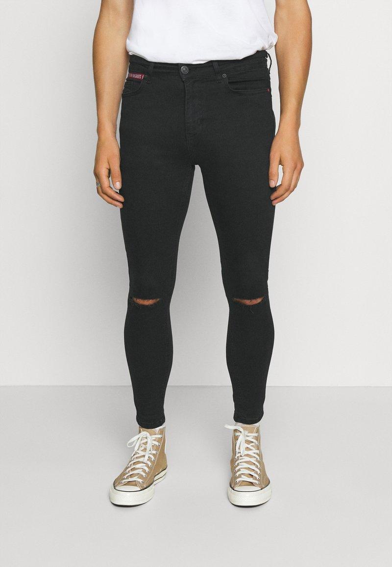 11 DEGREES - SLASHED KNEE  - Jeans Skinny Fit - black