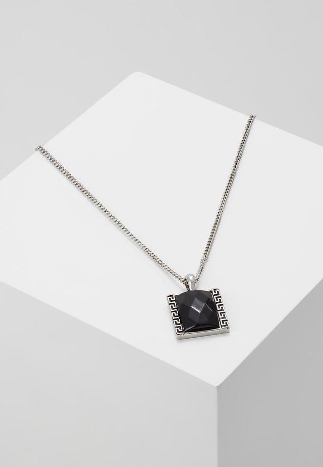 JET MONOGRAM NECKLACE - Collana - silver-coloured