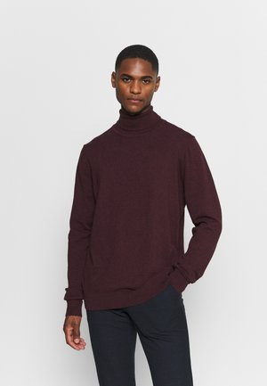 Pullover - mottled bordeaux