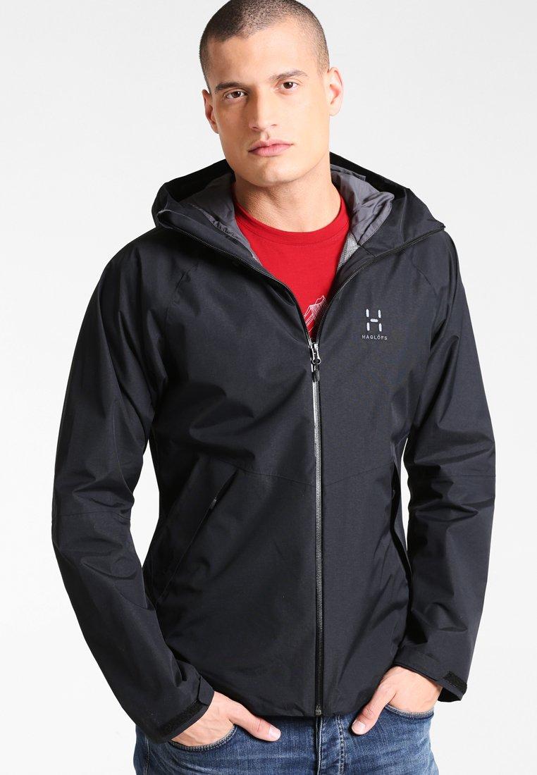 Haglöfs ESKER Hardshell jacket true blacksvart Zalando.no