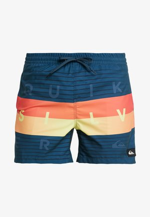 WORD BLOCK VOLLEY 17 - Swimming shorts - majolica blue