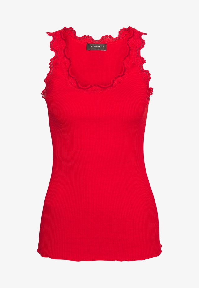 SILK MIX REGULAR VINTAGE - Top - spicy red
