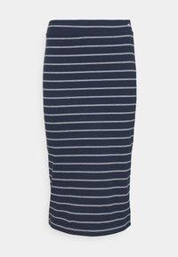 LONG BODYCON STRIPES SKIRT - Pouzdrová sukně - twilight navy