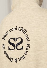 sandro - Zip-up sweatshirt - gris chiné - 4