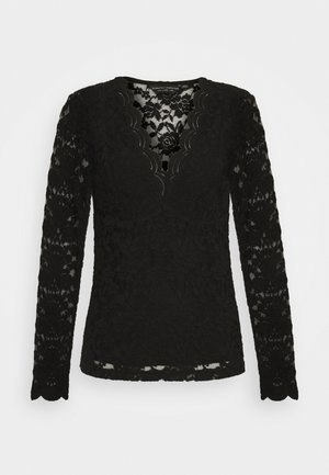 SCALLOP - Blouse - black