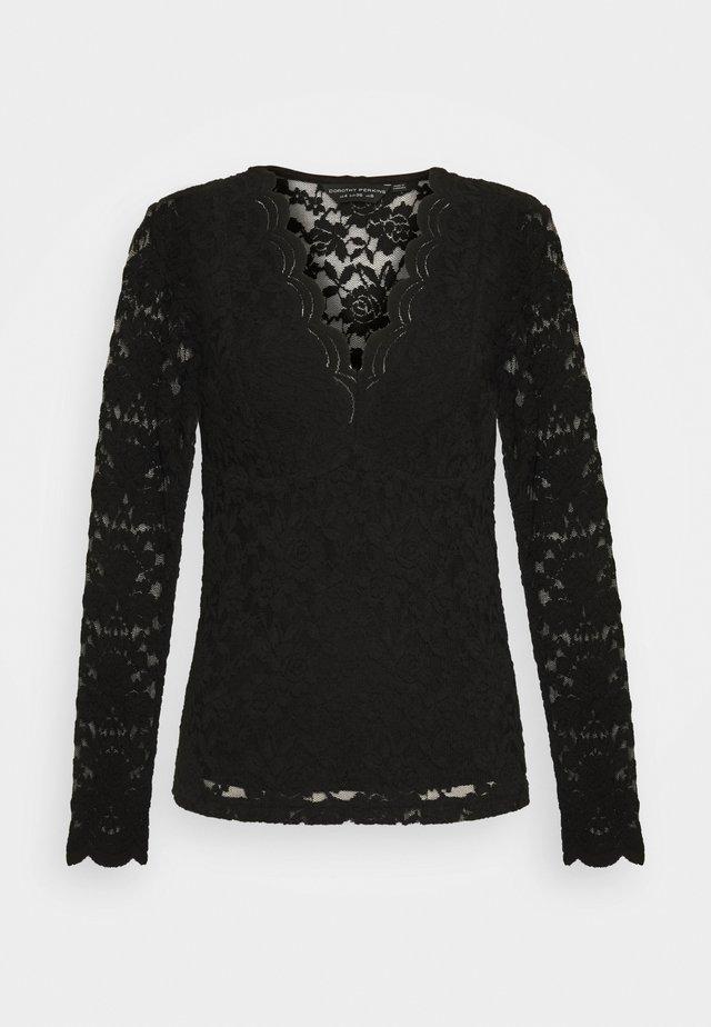 SCALLOP - Bluse - black