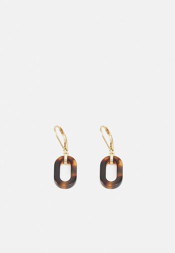 OVAL LINK DROP - Náušnice - gold-coloured