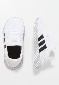 adidas Originals - DEERUPT RUNNER - Trainers - footwear white/core black/grey two - 0